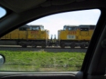 View from a railfan's car